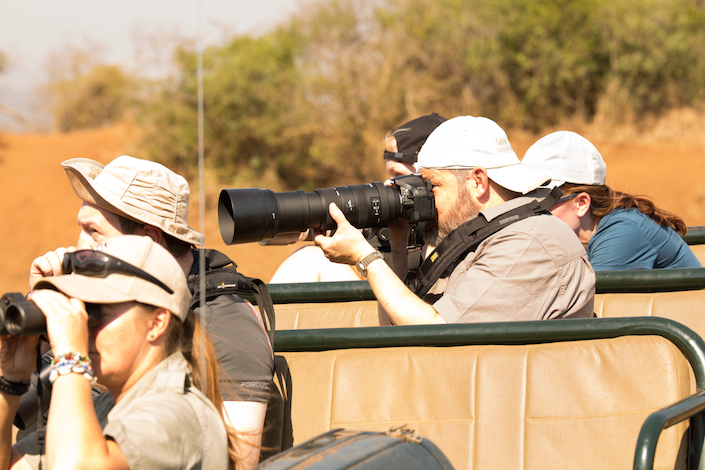 Gary on his first game drive at Thanda Game Preserve in South Africa