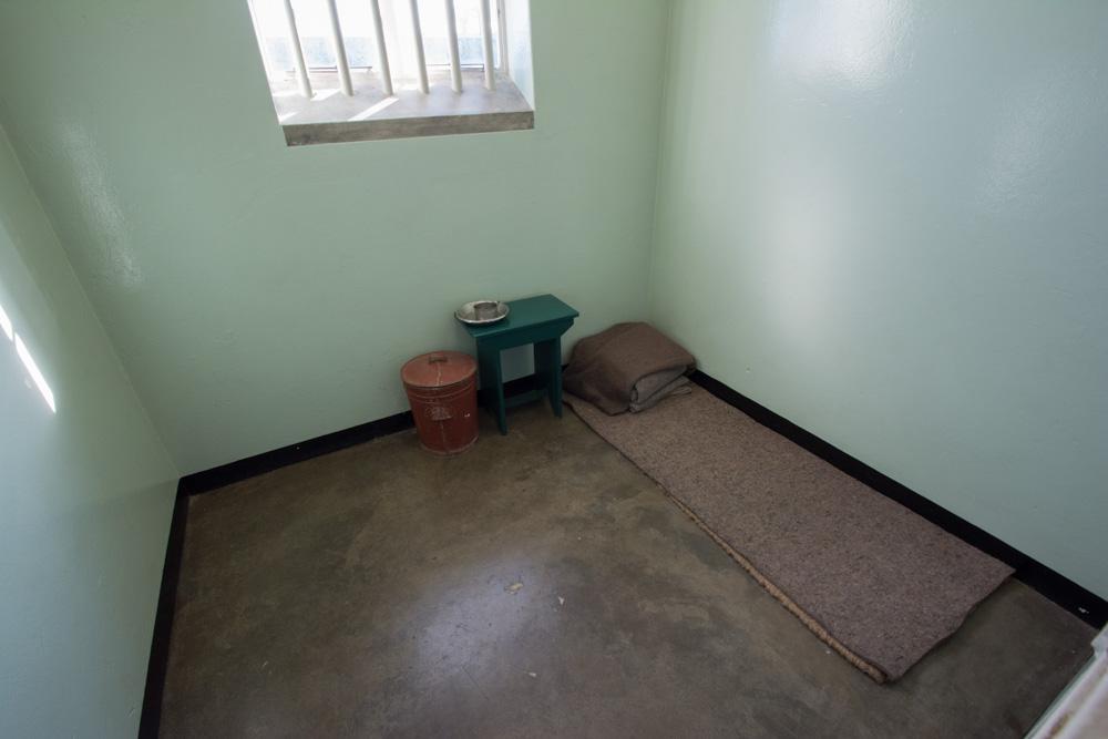 Nelson Mandela's cell on Robben Island.