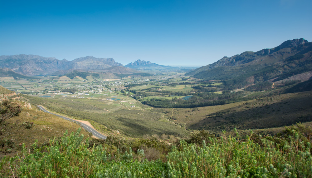 The view from Franschhoek Pass.