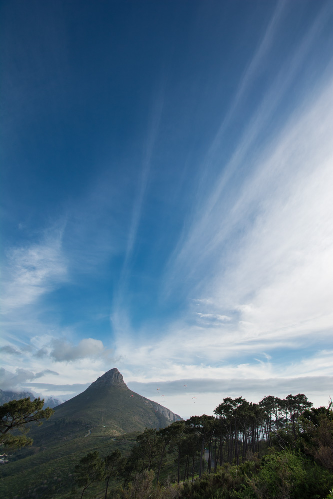 Lion's Head as seen from Signal Hill in Cape Town, South Africa